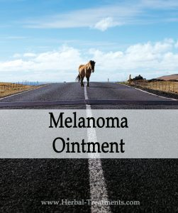 Herbal Treatment of Melanoma (Skin Cancer) Ointment for Horses