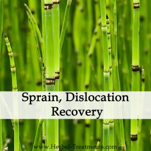 Herbal Medicine for Sprain, Dislocation Recovery